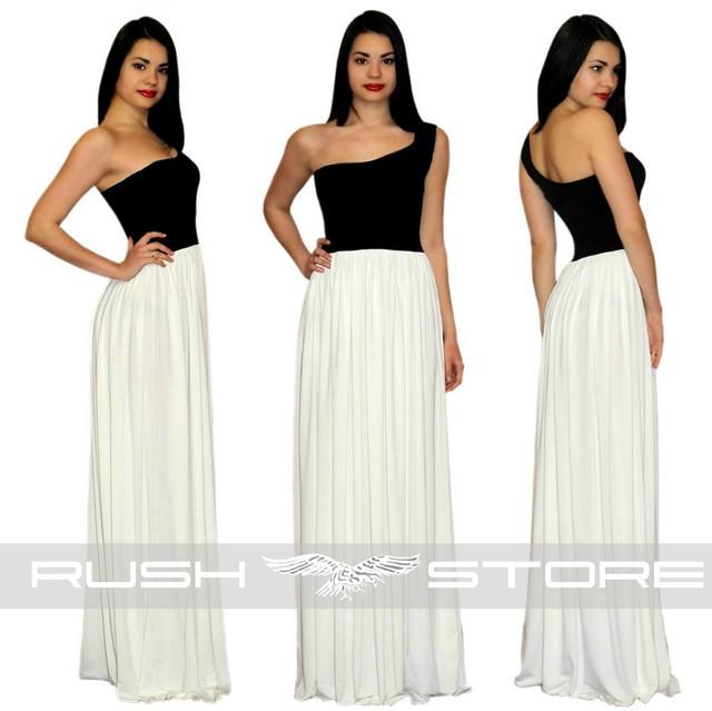 Асимметричное платье в пол на одно плечо