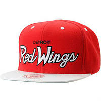 Кепка Mitchell and Ness - Detroit Red Wings - Big Logo Classic Red/White