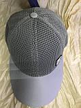 Сіра бейсболка з сітки унісекс 56-60, фото 5