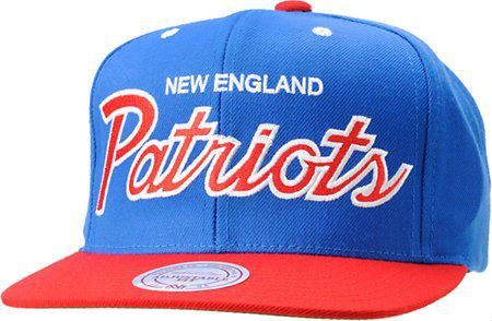Кепка Mitchell and Ness - New England Patriots - Big Logo Classic Royal/Red