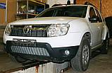 Декоративно-защитная сетка радиатора Renault Duster фальшрадиаторная решетка, бампер, фото 4