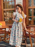 Летнее платье миди, фото 1