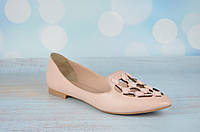 Розовые летние женские кожаные туфли Aquamarin