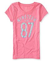 Розовая футболка для девочки от Aeropostale; 5, 6 лет