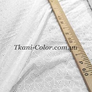 Ткань батист с вышивкой (прошва) белый