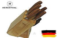 Набор кухонных ножей на подставке с деревянными ручками 7 предметов Herenthal, фото 1
