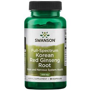 Swanson Premium Full Spectrum Korean Red Ginseng Root корейський женьшень корінь 400 мг 90 капс