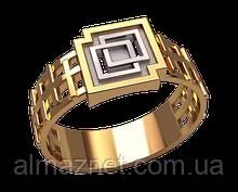 Золотой перстень Квадрат в квадрате