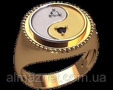 Золотой перстень Инь Янь