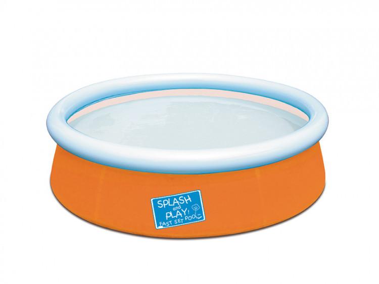 Бассейн Bestway 57241 (Orange), 477 литров, 152 * 38 см, с ремкомплектом