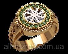 Золотое мужское кольцо Колядник