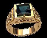 Мужское золотое кольцо Фараон, фото 2