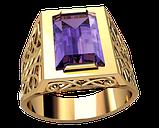 Золотой перстень Персидская роскошь с одним камнем, фото 2