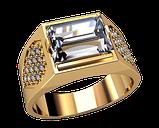 Мужской золотой перстень Небесный блеск, фото 2