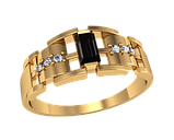 Мужская золотая печатка Ролекс, фото 2