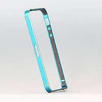 Бампер металлический для iphone 5/5s бирюзовый