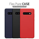 Nillkin Samsung G975F Galaxy S10+ Flex Pure Case Black Силиконовый Чехол, фото 5