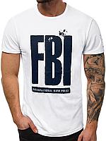 Мужская футболка J.Style FBI белая, фото 1