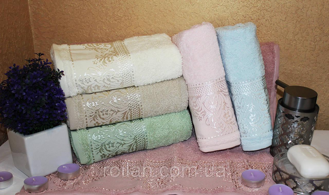 Банные турецкие полотенца Блестящий вензель