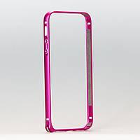 Бампер металлический для iphone 5/5s розовый