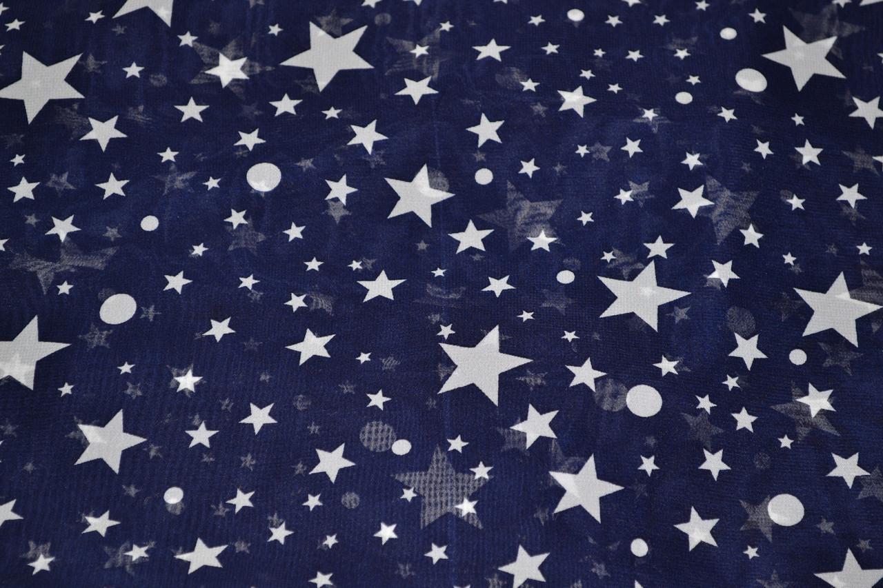 Креп шифон принт звезды