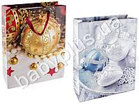 """Пакет подарочный бумажный """"Елочные шары"""" 31х12х40"""