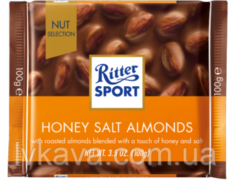 Молочный шоколад  Honig - Salz - Mandel Ritter Sport  , 100 гр, фото 2