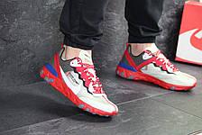 Мужские кроссовки Nike Undercover X Nike React Element 87,бежевые с красным, фото 2
