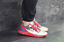 Мужские кроссовки Nike Undercover X Nike React Element 87,бежевые с красным, фото 3