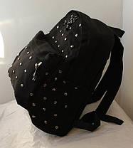 Городской Рюкзак с заклепками Черный, Молодежный, Для учебы, под ноутбук, СТИЛЬНЫЙ!, фото 3