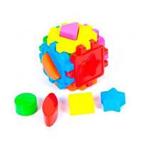 Логический арт.50-101 куб-сортер с геометрич. фигурами (10х10х10см.) KINDER WAY в пакете