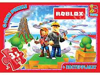 "Пазлы картонные ""Roblox"" 35 элементов. G-Toys RX300"