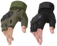 Перчатки без пальцев для велосипедиста, штурмовые тактические Oakley. Беспалые Защитные\ Рукавички без пальців