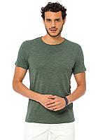 Мужская футболка Lc Waikiki / Лс Вайкики цвета хаки с круглым вырезом