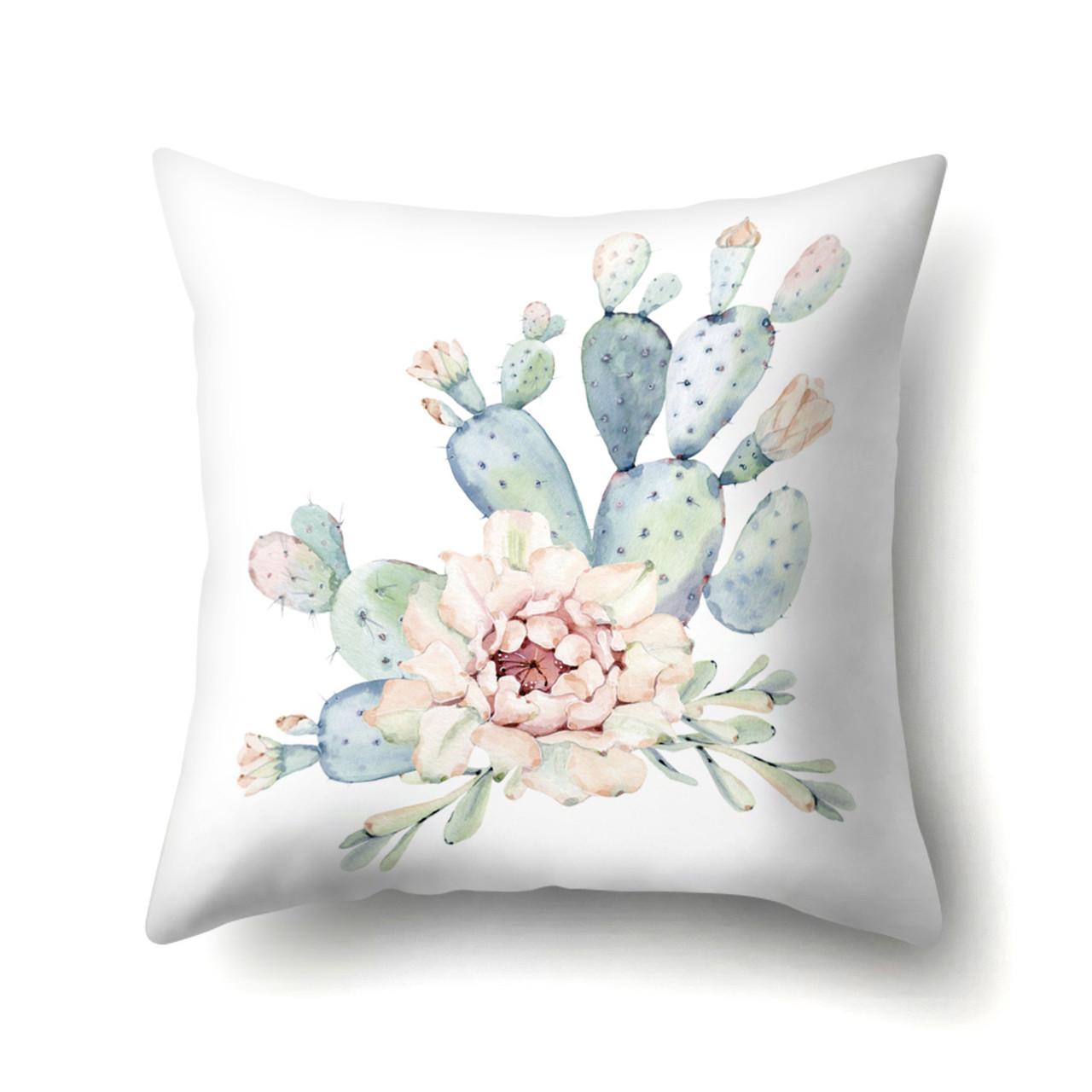 Наволочка декоративная Цветущий кактус 45 х 45 см Berni