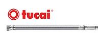 """Шланг для воды в нерж оплётке Tucai 1/2"""" М10 60 см игла длинная (гайка-М10 в смеситель)"""