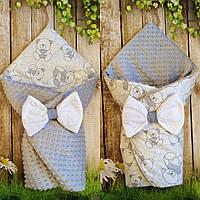 Двухсторонний конверт- одеяло  для новорожденных, весна/лето/осень, фото 1