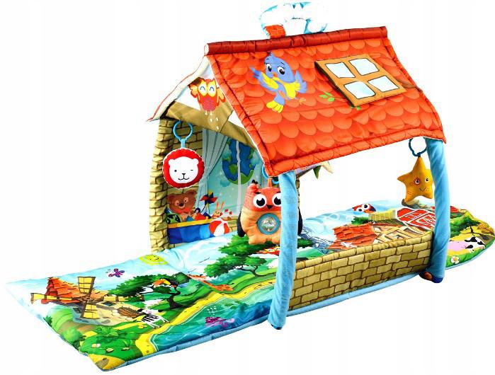 Развивающий коврик для ребенка в виде домика Lionelo Agnes