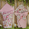 Двухсторонний  всесезонный конверт- одеяло для новорожденных Балерина