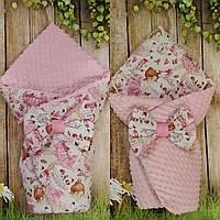 Двухсторонний  всесезонный конверт- одеяло для новорожденных Балерина, фото 1