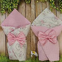Двухсторонний конверт-плед  весна-лето-осень для новорожденных, фото 1