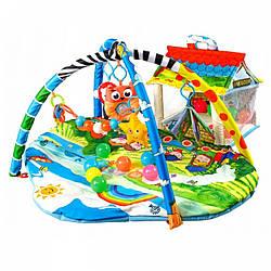Развивающий коврик для ребенка с дугами Lionelo Imke