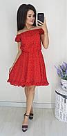 Платье сердечко, №75, красное