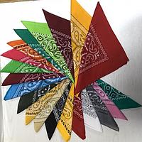 Бандана різнобарвна рослинний візерунок