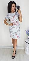 Платье цепочка, №128, серое
