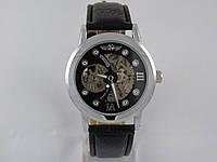 Мужские механические наручные часы скелетоны Winner, Silver, фото 1