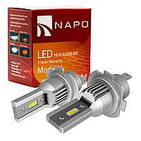 Лампа светодиодная NAPO Model V  H7  4600 Lum, цвет свечения белый, 2 шт/комплект. Гарантия 2 года.