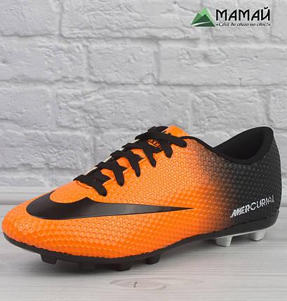 Бутси Nike Mercurial - Футбольне взуття репліка  , фото 2