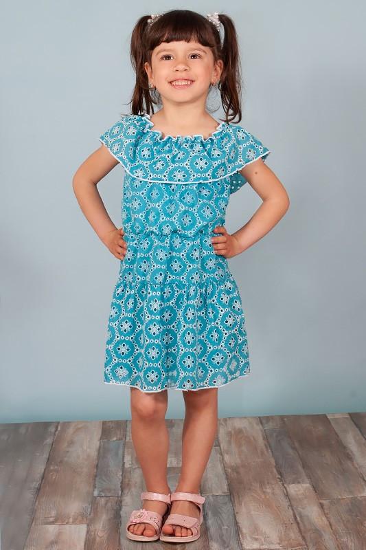 Летнее платье для девочек на рост 104-134 см