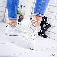 Женские белые кроссовки, ОВ 7427